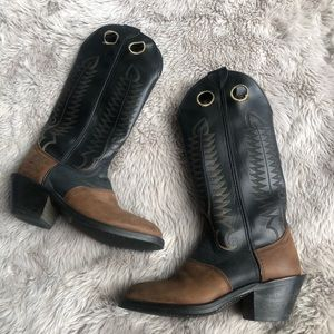 Laredo Brown and Black Cowboy Boots